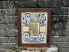More details for antique wwi military commemorative frame with naval officer photo - original
