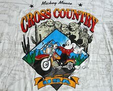 RARE Vtg MICKEY MOUSE UNLIMITED Mt Rushmore Motorcycle Graphic Map T Shirt XL