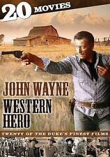 JOHN WAYNE WESTERN HERO 20 MOVIES (DVD, 2013, 4-Disc Set) NEW