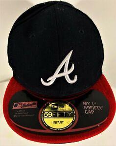 New Era Black And Red Hat New Era Infant  Atlanta Embroidered A Baseball Cap