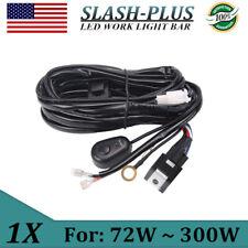Universal LED Light Bar Fog Light Wiring Harness Kit 40A 14V Switch Relay Fuse