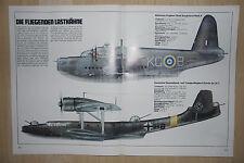 Dornier Do 24 T -- Short Sunderland Mark II  -- Poster-Plakat - Farbe-