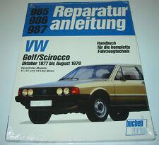 Reparaturanleitung VW Scirocco I Typ 53 Baujahr 10 / 1977 - 08 / 1979 NEU!