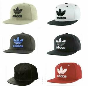 adidas Originals Men's Trefoil Flat Brim Snapback Flatbill Adjustable Hat Cap