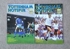 VARIOUS TOTTENHAM HOTSPUR PROGRAMMES- SEASON 1980/81