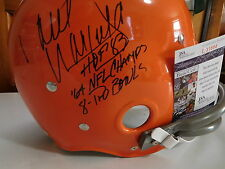 Paul Warfield signed T B Browns Custom F/S  helmet, JSA, 3 Inscriptions