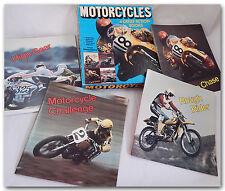 VINTAGE MOTORCYCLE MOTOCROSS ROADRACE FLATTRACK YOUTH KID'S BOOK SET IN BOX