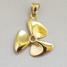 14k Yellow Gold PROPELLER Pendant / Charm, Made in USA