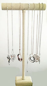 Tall Burap Weave Long Necklace Pendant Jewellery T Bar Display Stand Holder