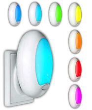 2x LED Nachtlicht für Steckdose Baby Schlummerlicht mit Farbwechsel Nachtlampe