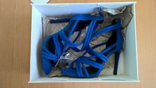 New Zara Blue High Heel Strappy Sandals Shoes Eur 37
