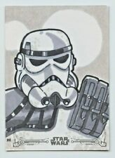 Star Wars Black & White A New Hope sketch card Stormtrooper by Rodney Roberts