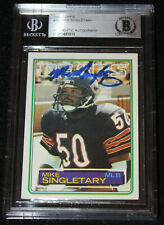 1983 Topps Mike Singletary signed Rookie Card, RC, AUTO, Bears, Beckett BAS