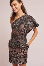 T8YVS Parker Black Serena Short-Sleeve Sequined Silk Cocktail Dress