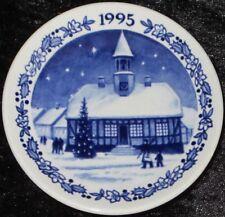 1995 Royal Copenhagen Fayence MINI PIATTO DI NATALE/CHRISTMAS PLAQUETTE