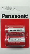 1 X 2 Genuine Panasonic Heavy Duty Size C Carbon Zinc Batteries LR14-1.5V Pack 6