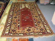 Fine Antique Turkish Melas Oushak Prayer Rug 4'x7' Hand Knotted Wool Excellent