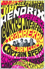 JIMI HENDRIX COUNTRY JOE & FISH 1967 Santa Barbara Concert Poster