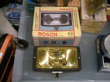 Faro proiettore ausiliario fendinebbia d'epoca Bosch rettangolare luce gialla 6