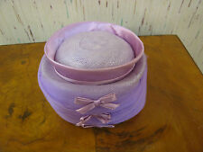 Vintage Purple / Lavender Ladies Hat w/ Bow Decoration