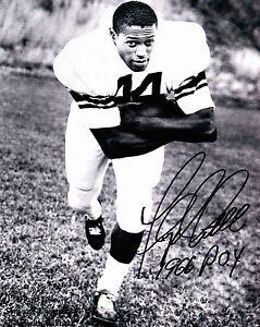 FLOYD LITTLE 1966 POY Autograph Signed 8x10 Photo Syracuse Orange Broncos W/COA