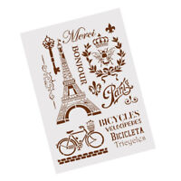 tower bicycle layering stencils for wall painting scrapbooking stamp album Gy