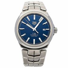 Tag Heuer Men's Swiss Automatic Link Stainless Steel Watch 41mm Wbc2112.ba0603