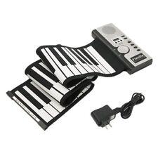 🎹 Super Qualità Portatile Nero Pianoforte 61 TASTI TASTIERA DIGITALE Roll elettronico 🎹