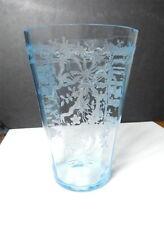 """Fostoria JUNE BLUE 8"""" Tall Vase, Rare !"""