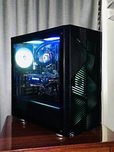 New AMD Ryzen 5 Water Cooled Corsair Glass Gaming PC Computer,16GB RAM,512GB SSD