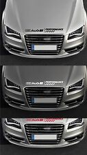 FOR AUDI - PERFORMANCE BONNET CHECKS - VINYL CAR DECAL STICKER  TT 600mm long