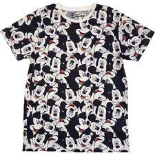 Disney oficial mickey mouse aop heads camiseta de manga corta para hombre negro