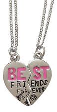 2 collares colgante corazón de separar Mejores amigos + cadenas