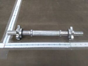 "In hand Barbell 14"" Dumbbell Handle with Spinlock Collars - Single"