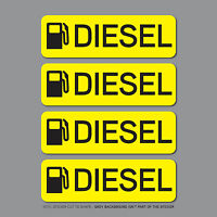 SKU2535 - 4 x Diesel Fuel Reminder Stickers - Car - Truck - Bus - Van - Fleet
