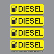 SKU2535 - 4 X Combustible Diesel ADHESIVOS RECORDATORIO-Auto-Camión-BUS - Van-Flota