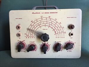 HEATHKIT SIGNAL GENERATOR FREQUENCY TESTER ELECTRONIC EQUIPMENT WORKS