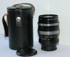 Pentacon 135mm f2.8 Zebra Manual Prime Portrait Preset M42 Lens.15 Blade Version