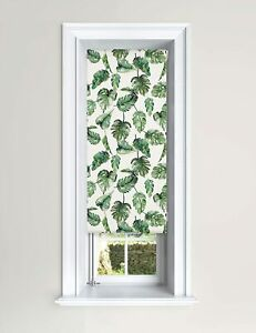 Lister Cartwright Blackout Roller Blinds Windows Child Safety Tropical Leaves