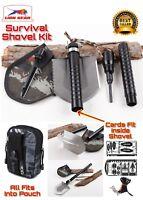 Survival Shovel Kit With Fishing  & Hunting Card & Tourniquet Camping Hiking
