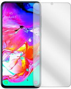 2x Schutzfolie für Samsung Galaxy A70 Displayschutz Folie Displayfolie Klar