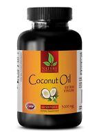 Top Grade Coconut Oil - Extra Virgin 3000mg - Coconut Oil for Hair - 60 Capsules