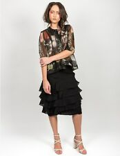 upstream by megan salmon Brand Black Layer Samba Skirt Size 8 BNWT #SM41
