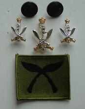 British Army Queen's Gurkha Signals Cap/Collar Badges/Buttons & Gurkha TRF