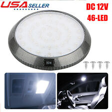 Universal 12V 46LED Round Car Interior Indoor Roof Ceiling Dome Light Lamp White