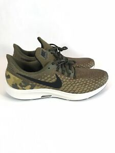 Nike Zoom Pegasus 35 GPX Olive Black Camo Running Shoes AT9974-301 Mens Size 12