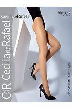 Cecilia de Rafael Rubino Sheen Semi-Opaque 40 Denier Pantyhose Tights Nylons