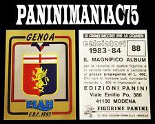 Album Figurine Calciatori Panini 83-84, 1983-1984 Scudetto N°88 Genoa Da Bustina