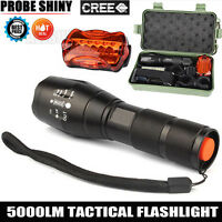 5000 LM CREE XM-L T6 LED Zoom 18650 Flashlight Torch Bicycle Bike Light Lamp Set