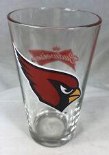 """Phoenix Cardinals Budweiser Beer Glass Tumbler 6"""" NFL Football Red Logos"""